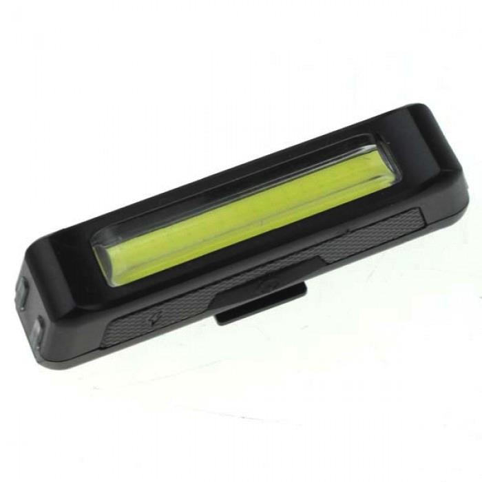 Camet Bicycle USB Rechargeable Headlight Rear 100 Lumens - Yellow