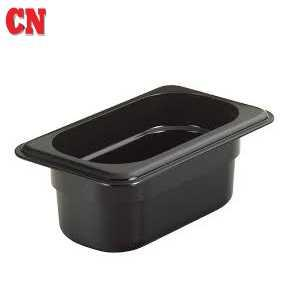 CAMWEAR POLYCARBONATE FOOD PAN - 1/3 X 100 (BLACK-CAMBRO)