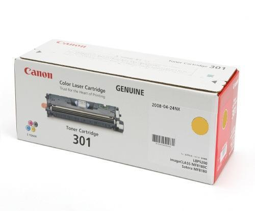 Canon 301 Yellow (Genuine) Toner Cartridge (LBP 5200 / MF8181C)