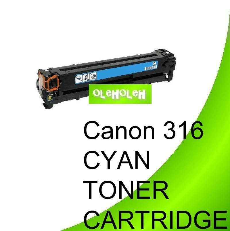 Canon 316 Cyan Compatible Toner Cartridge LBP5050 MF8030 MF8050