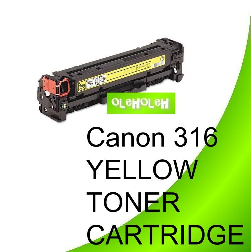 Canon 316 Yellow Compatible Toner Cartridge LBP5050 MF8030 MF8050