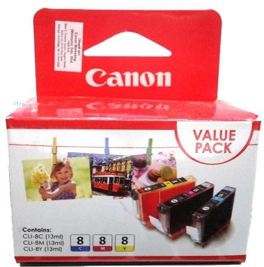 CANON COMBO VALUE PACK INK CARTRIDGE, CLI-8
