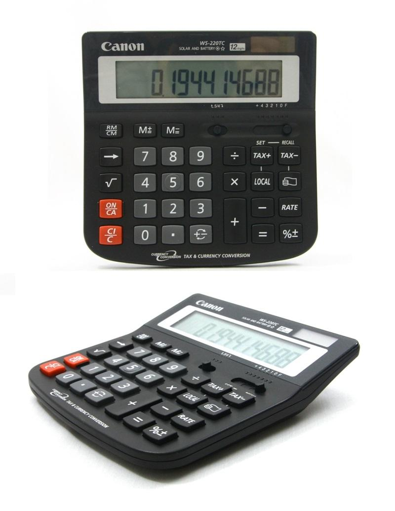 Canon Currency Conversion Calculator 12 Digits