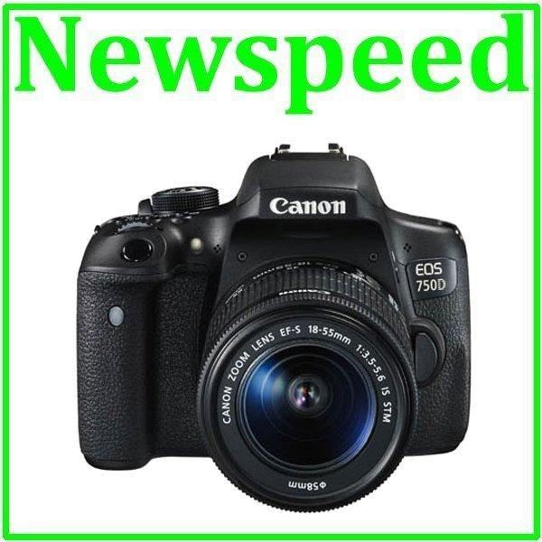 Canon EOS 750D 18-55mm IS STM Lens Digital Camera +8GB+Bag (Import)