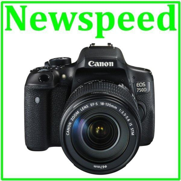 Canon EOS 750D Kit 18-135mm IS STM Digital Camera +8GB+Bag