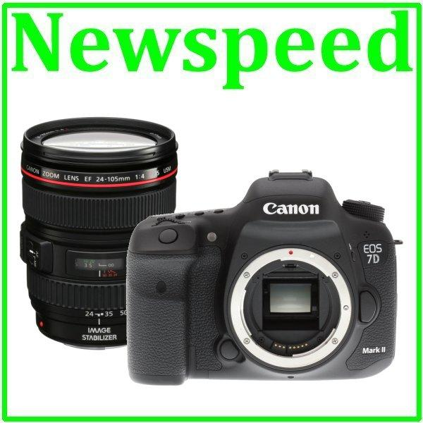 New Canon EOS 7D Mark II Body + 24-105mm F4 L Lens (Import)