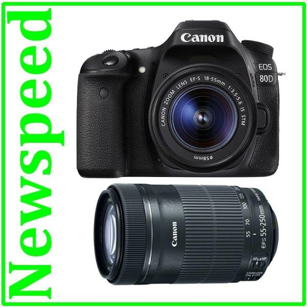 Canon EOS 80D +18-55mm STM + 55-250mm STM Twin Lens +8GB+Bag (Import)
