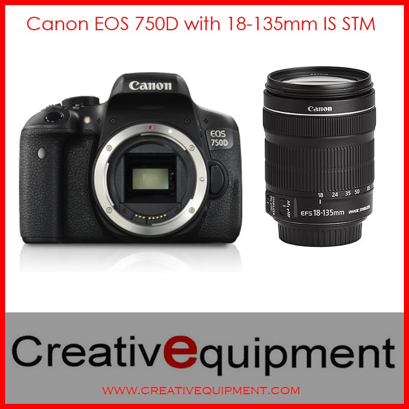 Canon EOS DSLR 750D + EF-S 18-135mm IS STM *Canon Malaysia Warranty*