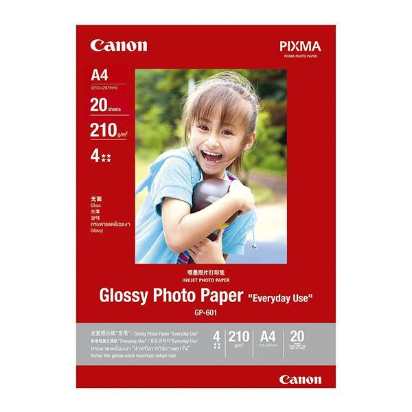 Canon Glossy Photo Paper Everyday Use - A4 - 20 sheets - 170g (GP-601)