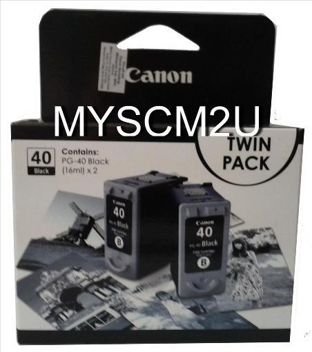 CANON INK CARTRIDGE PG40+PG40 TWIN PACK (canon40+40) (canon 40 + 40)