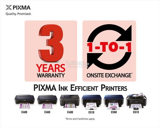 CANON PIXMA E400 + 3 YEARS WARRANTY + FREE PHOTO PAPER A4 20sheets