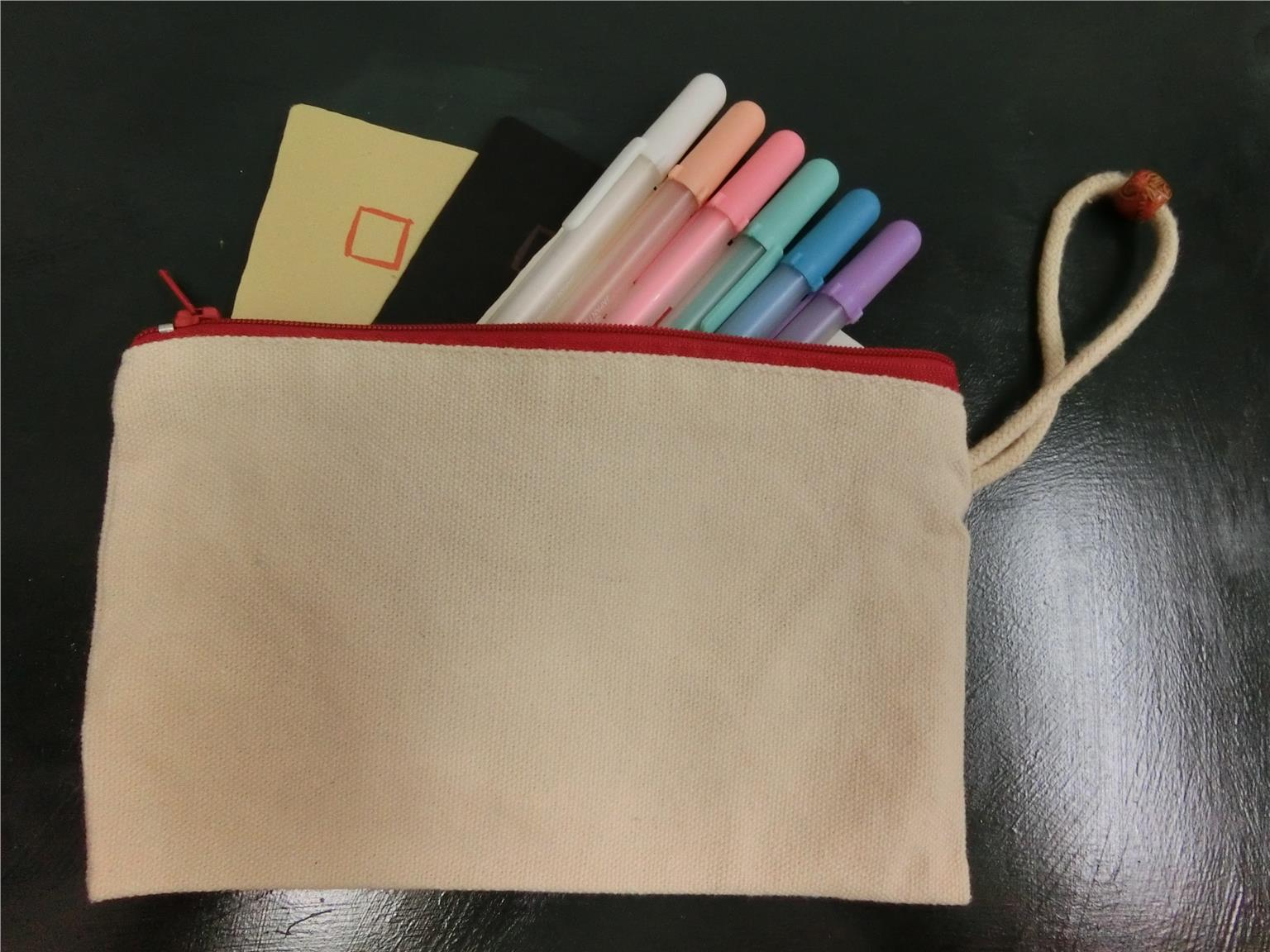 Canvas Zip Pencil Case