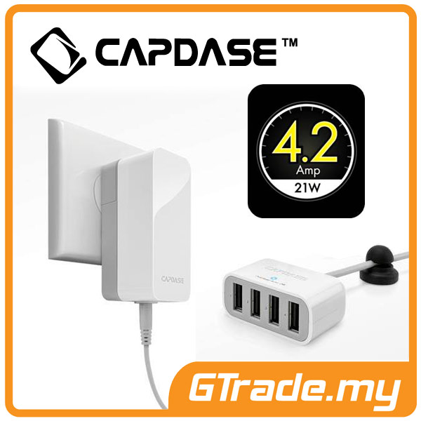 CAPDASE 4 USB Charger 4.2A Fast Charge Apple iPhone SE 5S 5C 5 4S 4