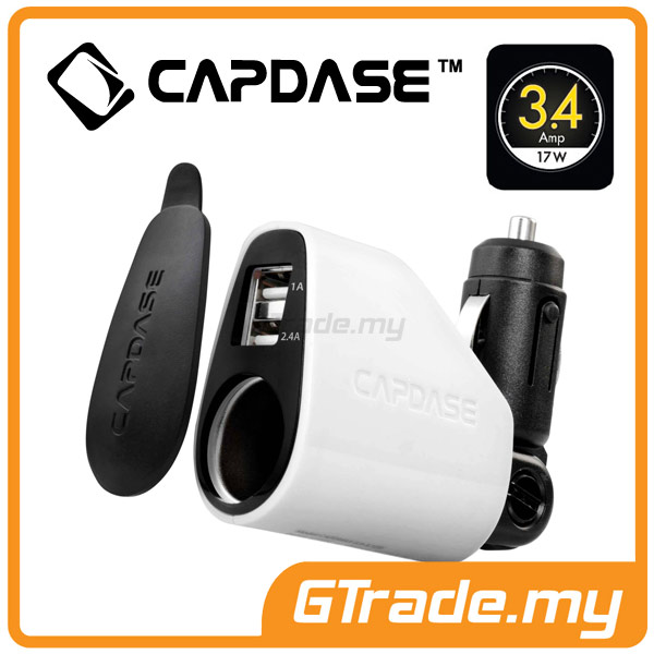 CAPDASE USB Car Charger 3A PowerDrive Samsung Galaxy S5 S4 S3 S2