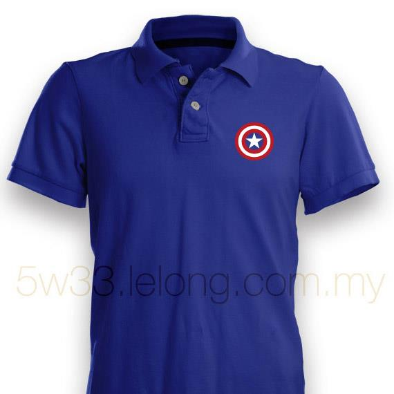 Captain America Shield Polo Shirt