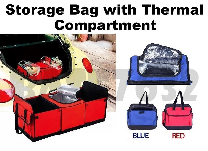 Car Boot Trunk Foldable Thermo Thermal Storage Bag Organizer Fridge