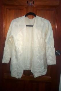 Cardigan Ivory Color Tops Wear