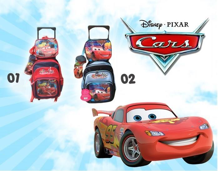 Cars 3 in 1 Trolley Backpack set