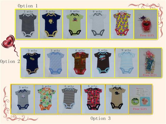Carters Baby Rompers Combination for 3 mnths, 6 mths & 9 mths - Boy
