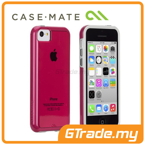 CASE-MATE Naked Tough Case | Apple iPhone 5C - White Red