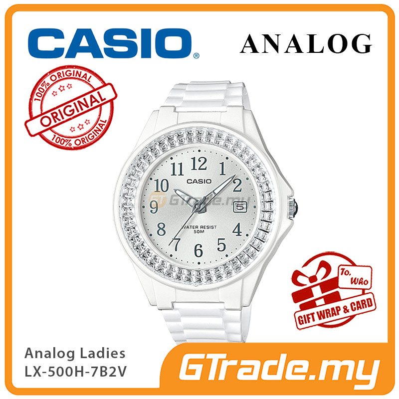 CASIO ANALOG LX-500H-7B2V Ladies Watch | Shiny Ring Date Display