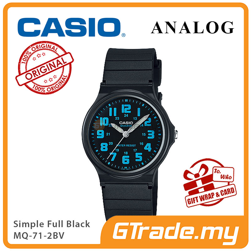 CASIO ANALOG Men Watch MQ-71-2BV | Simple Full Black