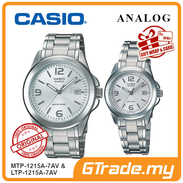 CASIO ANALOG MTP-1215A-7AV & LTP-1215A-7AV Analog Couple Watch
