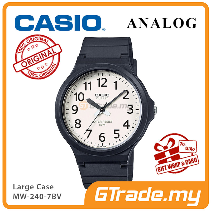 CASIO ANALOG MW-240-7BV Mens Watch | Large Case 50m Resist
