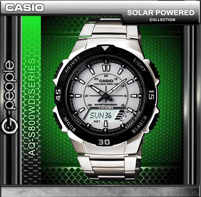 CASIO AQ-S800WD-7E SOLAR POWERED WATCH ☑ORIGINAL☑