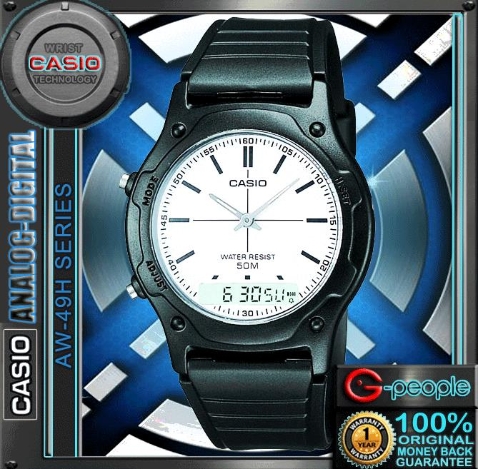 CASIO AW-49H-7E ANALOG DIGITAL WATCH☑ORIGINAL☑