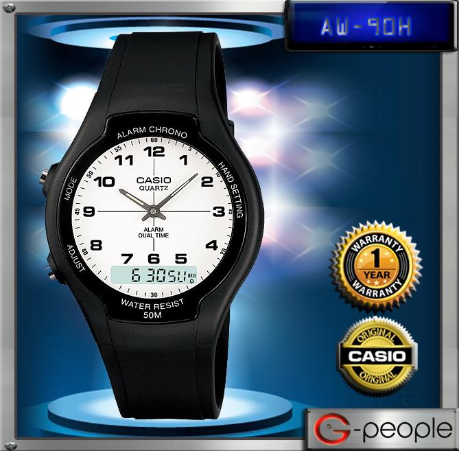 CASIO AW-90H-7B ANALOG DIGITAL WATCH☑ORIGINAL☑