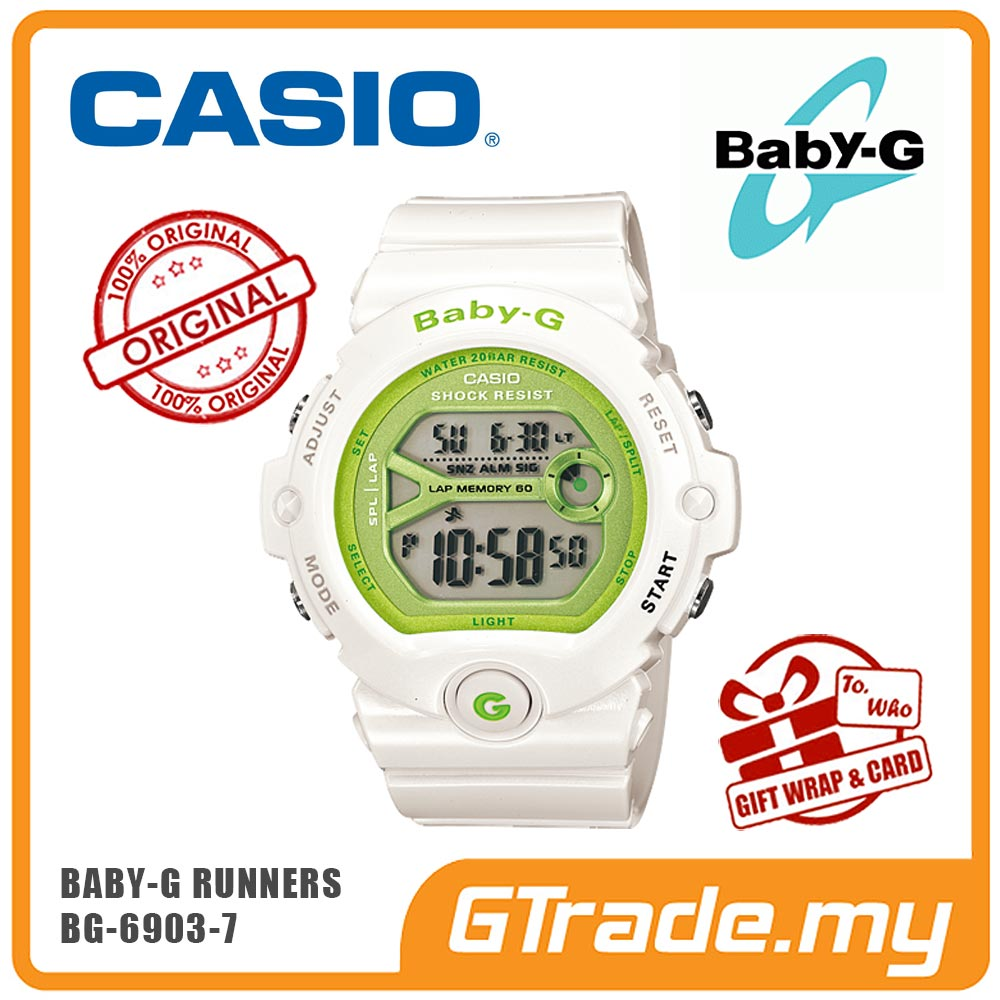 CASIO BABY-G BG-6903-7 Digital Watch | Runner Memory Lap 60