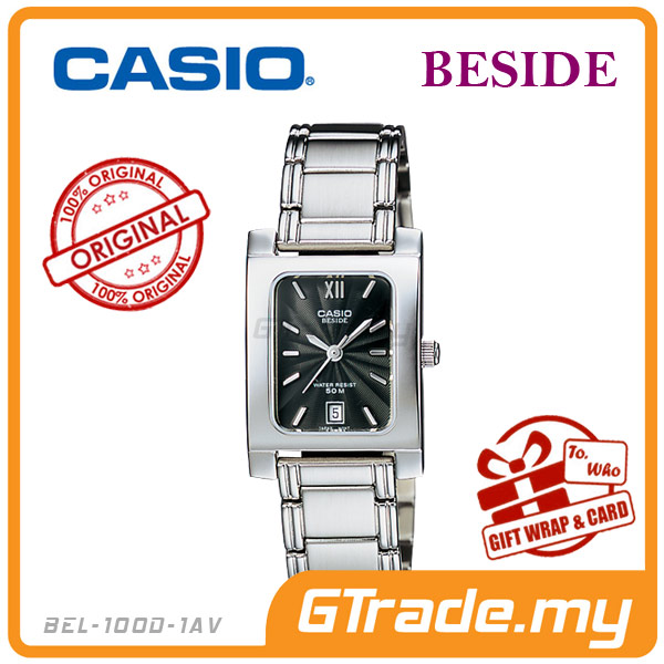 CASIO BESIDE BEL-100D-1AV Classic Analog Ladies Watch | Square