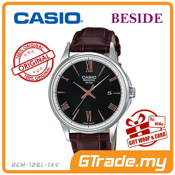 CASIO BESIDE BEM-126L-1AV Standard Analog Watch | Date Diplay 50M WR