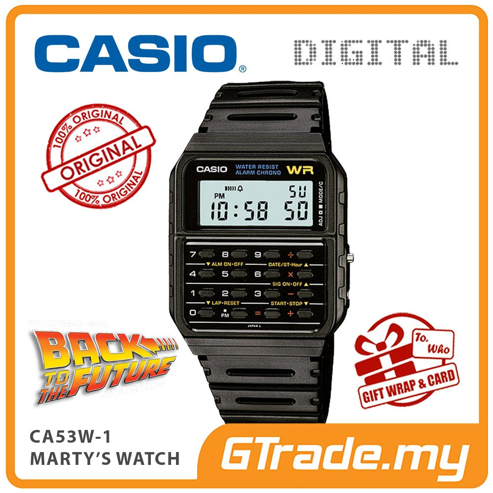CASIO CA53W-1 Digital Calculator Watch | Marty's Back to the future