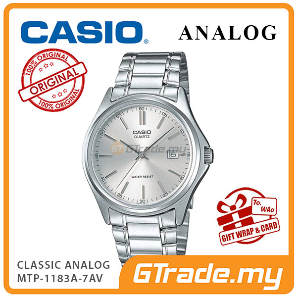 CASIO CLASSIC ANALOG MTP-1183A-7AV Men Watch | Date Display Steel Band