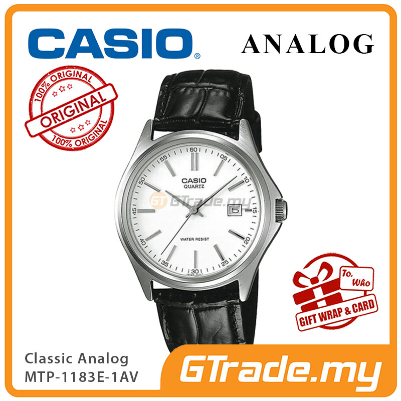 CASIO CLASSIC ANALOG MTP-1183E-7AV Men Watch | Date Display Leather