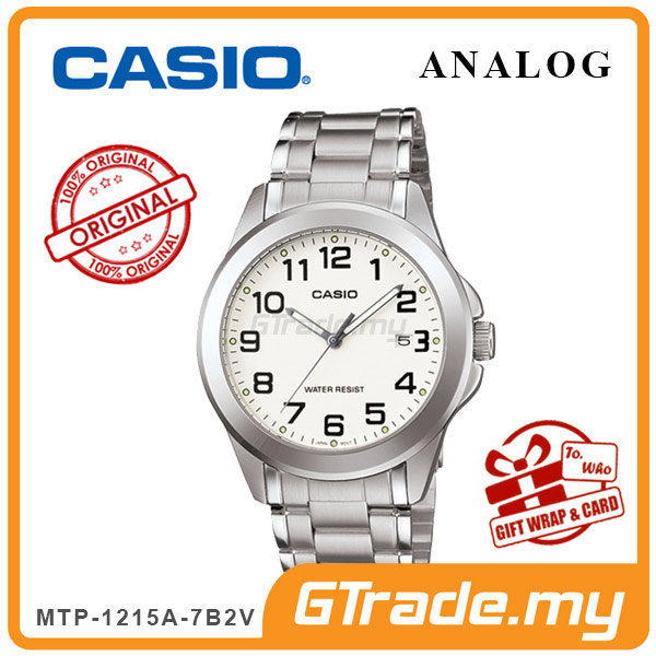 CASIO CLASSIC ANALOG MTP-1215A-7B2V Men Watch | Steel Date Display