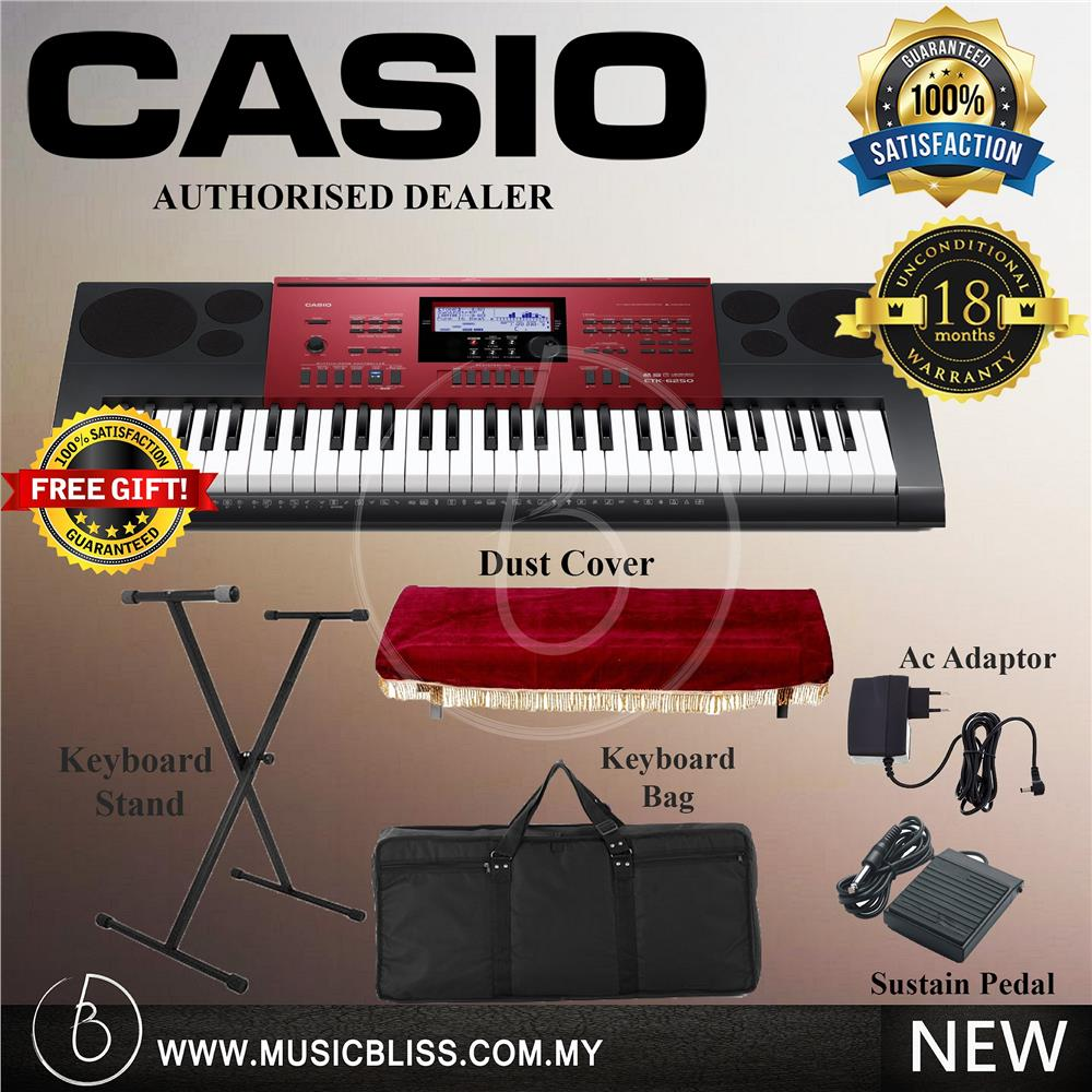 Casio CTK-6250 Red  Portable Keyboard