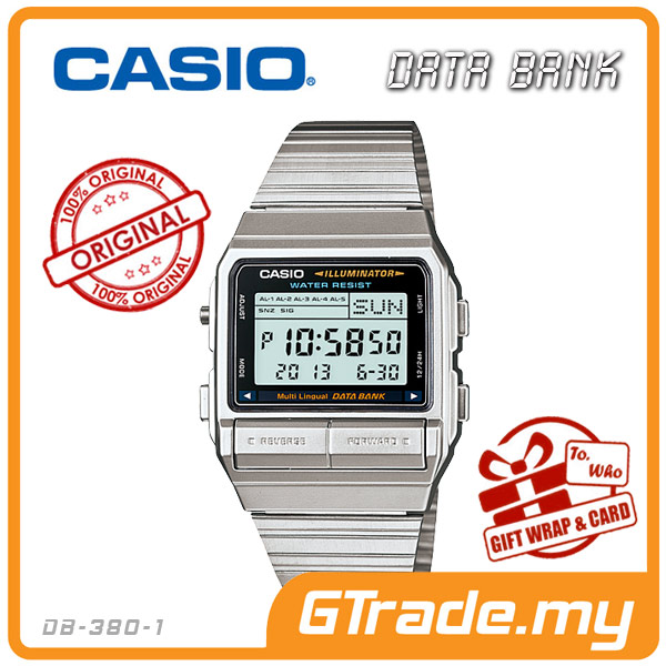 CASIO DATA BANK DB-380-1 Digital Watch | 30 Telememo Dual Time