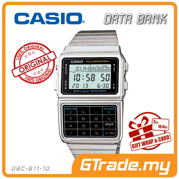 CASIO DATA BANK DBC-611-1D Digital Watch | Calculator Auto LED