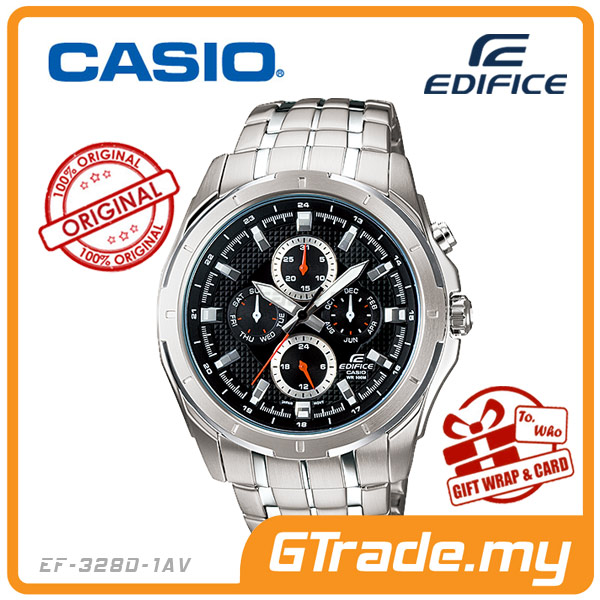 CASIO EDIFICE EF-328D-1AV Multi-Hand Watch | Four Dials Large Case