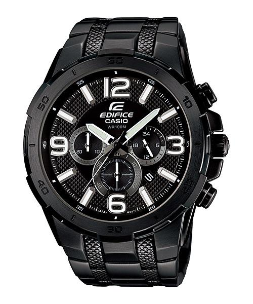 CASIO EDIFICE EFR-538BK-1A  Large Faces And Cases