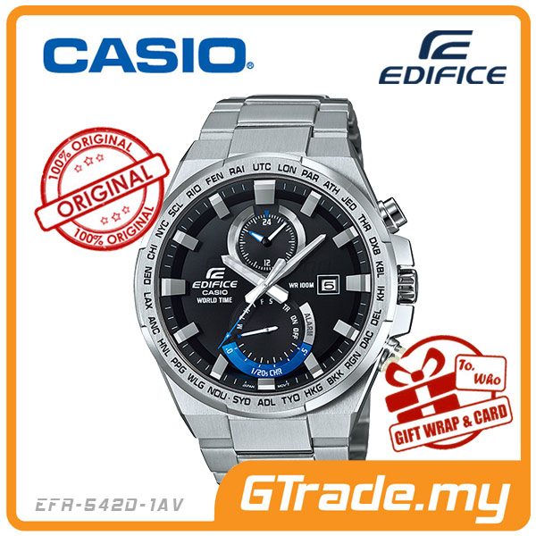 CASIO EDIFICE EFR-542D-1AV Chronograph Watch | World Time Alarm