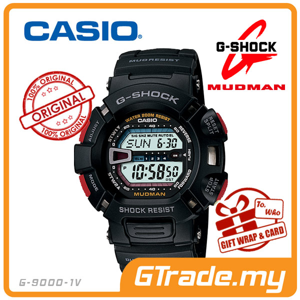 CASIO G-SHOCK G-9000-1V MUDMAN Watch |Rally Motor Sport Dual Illumin.