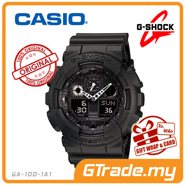 CASIO G-SHOCK GA-100-1A1 Analog Digital Watch | Magnetic Resist.