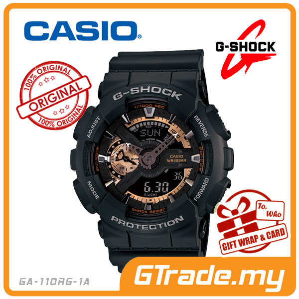 CASIO G-SHOCK GA-110RG-1A Analog Digital Watch | 3D Rose Gold Design