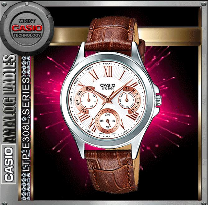 CASIO LTP-E308L-7A2 ANALOG LADIES WATCH☑ORIGINAL☑