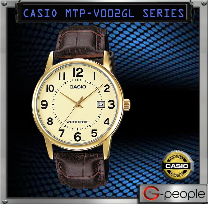 CASIO MTP-V002GL-9B GENTS WITH DATE WATCH ☑ORIGINAL☑