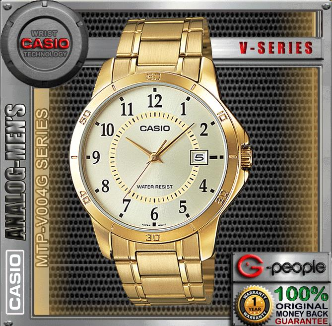 CASIO MTP-V004G-9B GENTS WITH DATE WATCH ☑ORIGINAL☑